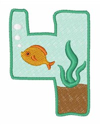 Fish Tank Font 4 embroidery design