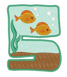 Fish Tank Font 5 embroidery design