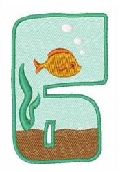 Fish Tank Font 6 embroidery design