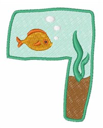 Fish Tank Font 7 embroidery design