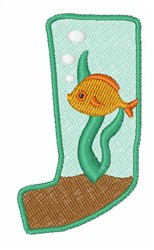Fish Tank Font J embroidery design