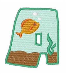 Fish Tank Font a embroidery design