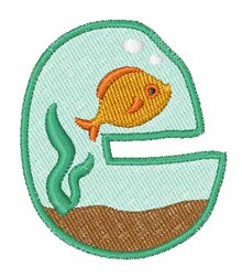 Fish Tank Font c embroidery design