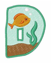 Fish Tank Font d embroidery design