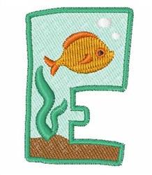 Fish Tank Font e embroidery design
