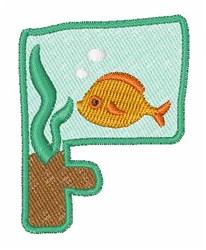 Fish Tank Font f embroidery design