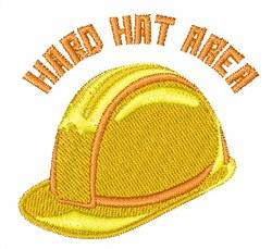 Hard Hat Area embroidery design