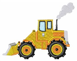 Loader Tractor embroidery design