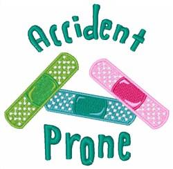 Accident Prone embroidery design