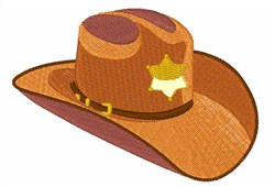 Sheriff Hat embroidery design