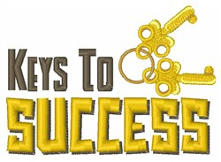Keys to Success embroidery design