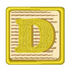 Toy Blocks D embroidery design