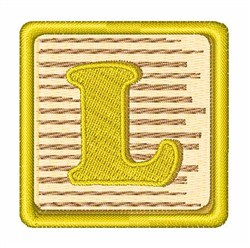 Toy Blocks L embroidery design