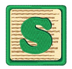 Toy Blocks S embroidery design