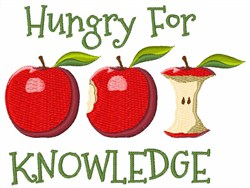 Hungry for Knowledge embroidery design