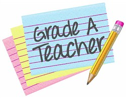 Grade A Teacher embroidery design
