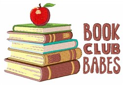 Book Club Babes embroidery design