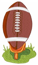 Football on Stand embroidery design