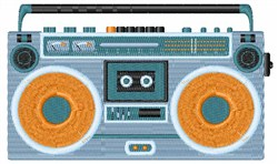 Radio Cassette Player embroidery design