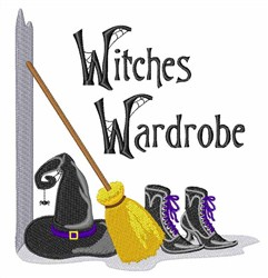 Witches Wardrobe embroidery design
