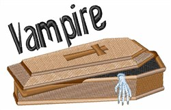 Vampire Coffin embroidery design