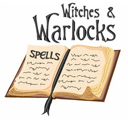 Witches & Warlocks embroidery design