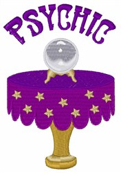 Psychic Crystal Ball embroidery design