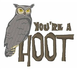 Youre A Hoot Owl embroidery design