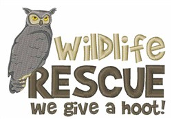 Wildlife Rescue Owls embroidery design