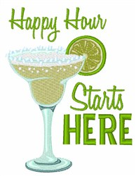 Happy Hour Margarita embroidery design