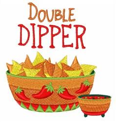 Double Dipper Nachos embroidery design