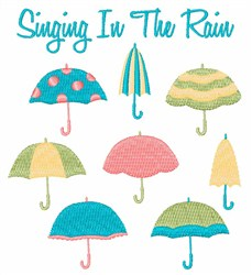 Singing In The Rain embroidery design