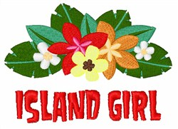 Island Girl embroidery design