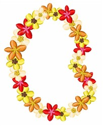 Flower Lei embroidery design