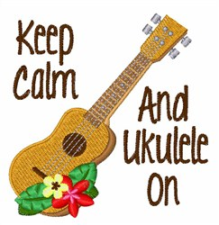Ukulele On embroidery design