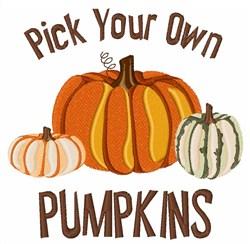 Pick Pumpkins embroidery design