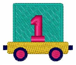 Toy Train 1 embroidery design