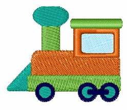 Toy Train Engine embroidery design