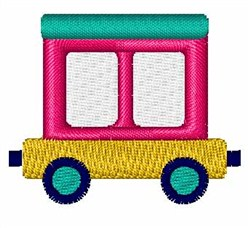 Toy Train Car embroidery design