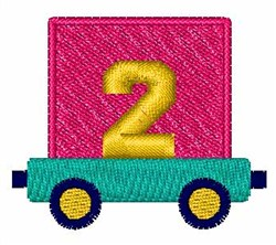 Toy Train 2 embroidery design