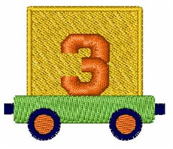 Toy Train 3 embroidery design
