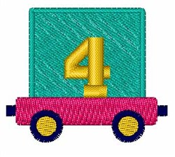 Toy Train 4 embroidery design