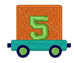Toy Train 5 embroidery design