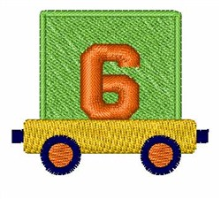 Toy Train 6 embroidery design