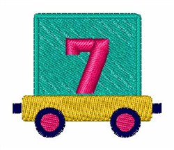 Toy Train 7 embroidery design