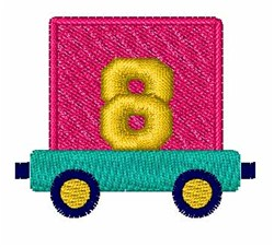 Toy Train 8 embroidery design