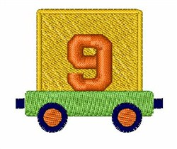 Toy Train 9 embroidery design