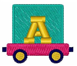 Toy Train A embroidery design