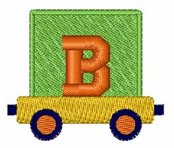 Toy Train B embroidery design