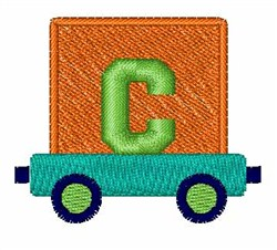 Toy Train C embroidery design